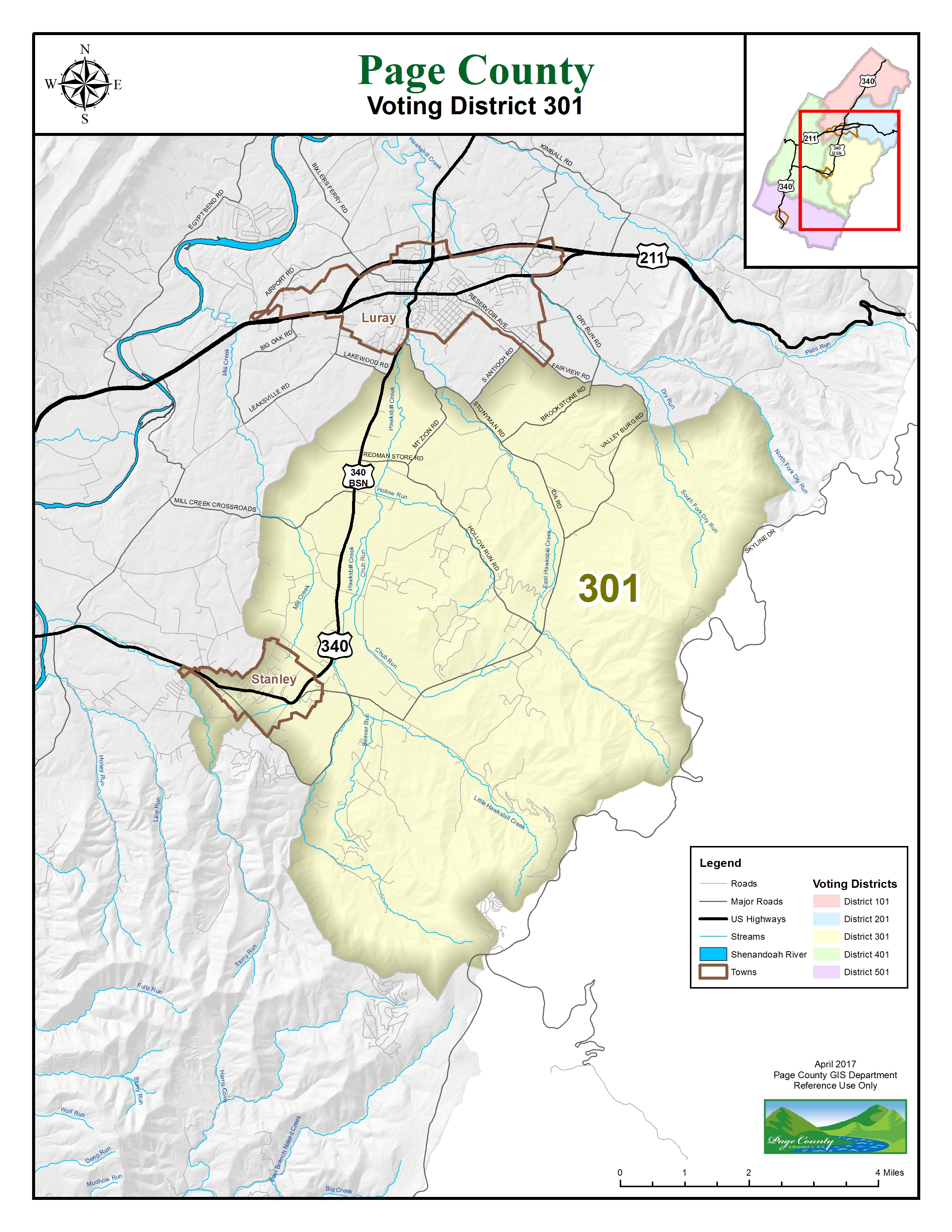Map 401.Voting District Maps Page County Va